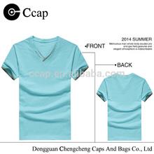 Custom Plain Man T-shirt 220GSM Cotton Tshirt Made in China