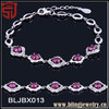 Costume Jewelry Wedding Accessory 925 Silver Crystal Bracelet