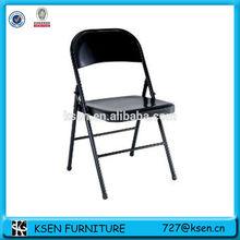 Black simple metal folding dining chair KC-7382A