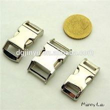 Silver Contoured Metal Buckle for ParaCord bracelet dog collar