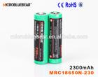 3.7V ICR 18650 Li-ion Rechargeable Battery 18650 2300mah