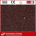Sintético compuesto decorativos de cristal de color rojo oscuro de cuarzo piedra artificial superficie sólida de la pared del panel/cerámica/barra de bar