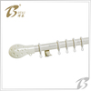 window white color curved curtain rod