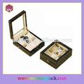 Luxuoso relógio de madeira caixa de exposição acrílico da janela( wh- 0010)