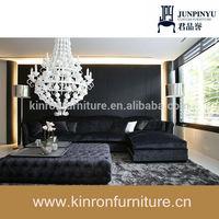 Black Velvet Sofa Set Designs Cheap Corner Sofa With Velvet Cover Square Table Living Room Sofa