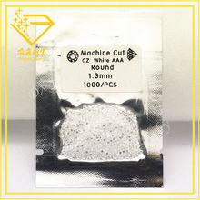 round brilliant diamond cut white cubic zirconia gemstones in bags