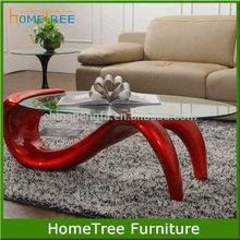 Fiber glass red S shape coffee table