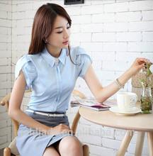 Oem ladies escritório modelos para uniforme camisas brancas