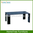 black living room furniture centre glass table