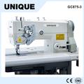 Gc875-3 industrial duas agulhas da máquina de costura com barra da agulha split protex máquina de costura