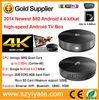Universal tv box S82 Amlogic s802 quad core tv box Android 4.4 full hd 1080p porn video heng tv box hong kong Pre-installed XBMC