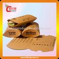 papel kraft embalagem do sanduíche natural para o sanduíche de embalagem triângulo sanduíche saco de empacotamento