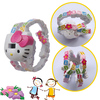 3D hello kitty cartoon childen wristwatch with funny watchband