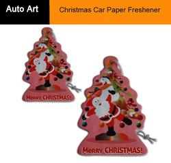 Black Ice Scent Christmas Paper Car Air Freshener