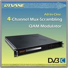 4 Mux-scrambling Digital TV IP QAM Modulator with 16*ASI , 4*ASI or 8*Tuner to IP QAM
