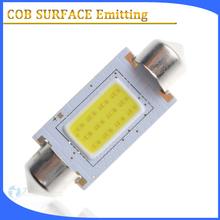 Auto parts 12v 180 degree cob surface emitting led car festoon bulb