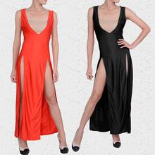 Sexy Club Stage Celebrity Bandage Bodycon Fashion Black Cocktail Long Dress SV004490#