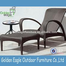 new trendy PE rattan outdoor leisure sun lounger