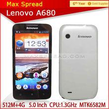 Lenovo A680 phone Quad core 1.3GHz 5.0 inch TFT 854x480px cellphones cheap