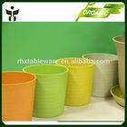 custom bright color flower pots bio natural pots for nursery plants