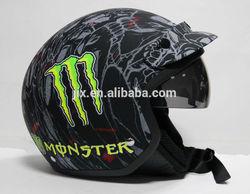2014 new design open face helmet with sun visor/sun glass helmet JX-OP05