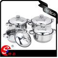 Pcs 4 estilo africano de acero inoxidable olla de cocción/de archivo pot/cazuela conjunto