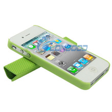 Double-layer Multi-function Smart Magnetic covers protective cases for iPhone 4S 4g 4