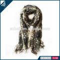 de malla de lana de punto de acrílico bufandas