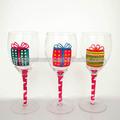 verres à vin peint à la main personnalisé dessins pour de gros