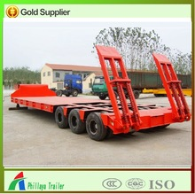 multi axle-low flatbed semi trailer for large or non- dismantled objects (6 axles)
