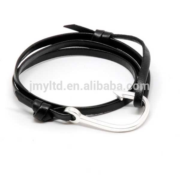 Miansai Silver Hook Leather Bracelet Miansai Style Silver Hook