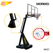 "Easy to Assemble Basketball Stand with 54"" PC Transparent Backboard ,Spring Rim,Adjustable Basketball Stand MK027"