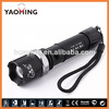 SWAT tactical flashlight, self defense weapon torch, rechargeable traffic light, 3AAA/18650 battery torch