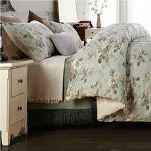 luxury rose cotton sateen duvet cover set