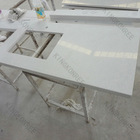 White mirror fleck quartz stone countertop , semiprecious stone slabs