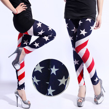 hot selling stars stripes american flag leggings woman skinny leggings fashion 2014