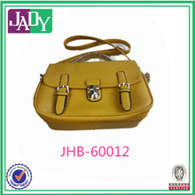 Lady Fashion Bag With Lock Yellow Shoulder Bag