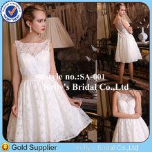 Beautiful Princess latest western design sleeveless lace fabric lovely short zipper back mini brown bridesmaid dress
