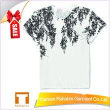 2014 novo estilo camiseta personalizada cortar e costurar camisetas distribuidores