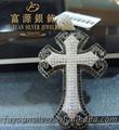 O mais novo 2014 fuyuan asa de anjo cruz pingente 925 prata esterlina handmade pingente cruz grande prata pingentes cruz, fyp5673