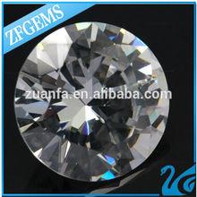 large size 15 mm round shaped diamond replacement cheap cubic zirconia diamond