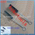 de nylon negro de alambre de acero mango de tubo de limpieza cepillo de botella