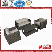 White wrought iron Rattan / Wicker outdoor furniture