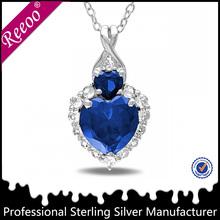 aroma dark blue stone pendant