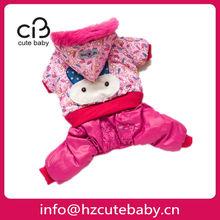 rabbit design on back winter dog coats