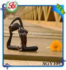 SGY109 Resin Black Color Home Decor Yoga Figurine Arts and Craft