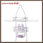 Chrome Plating Iron Wire Bathroom Storage Rack, Wall Mounted
