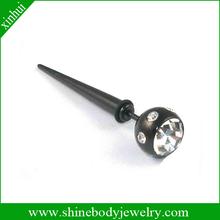 Black IP fake titanium ear taper