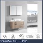 2015 Wall Mounted plastic bathroom mirror cabinet