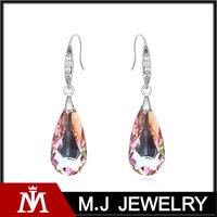 Fashion latest diamond latest diamante Austria crystal earring machine S-E01385